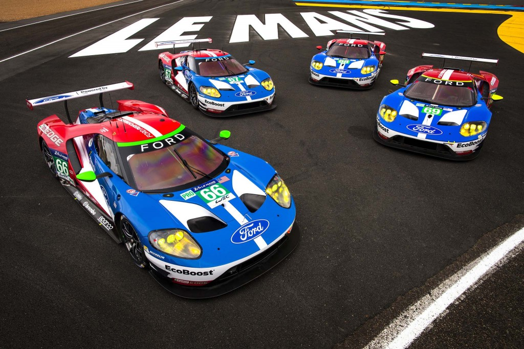 The four Ford GTs at Le Mans_med res