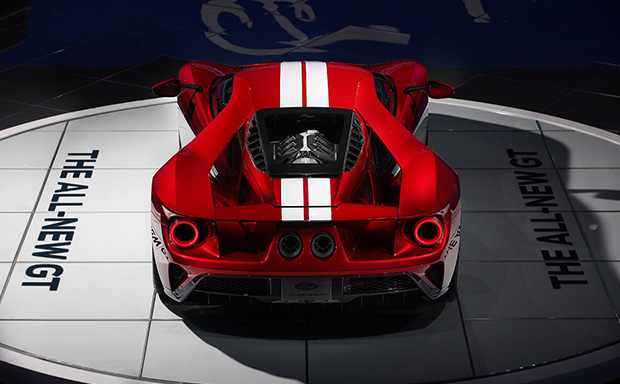 Enjoy These Beautiful Shots Taken Of A Liquid Red Ford Gt And The Le Mans Winning Ford Gt Race Car At The  North American International Auto Show