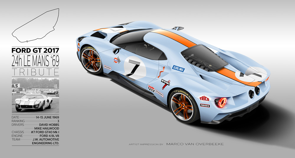 2017 Ford Gt 66 99 24h Le Mans Tribute Renders